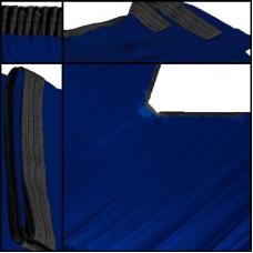 Backdrop blau Faltenband