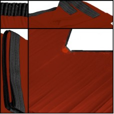 Backdrop rot Faltenband