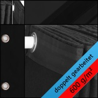 Backdrop schwarz 600gr./qm  geöst