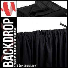 Backdrop schwarz Faltenband