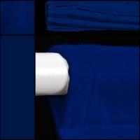 Backdrop in blau Hohlsaum