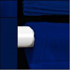 Backdrop in blau mit Hohlsaum