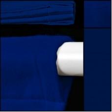 Backdrop in blau mit Hohlsaum - Dekomolton