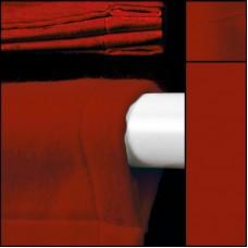 Backdrop rot mit Hohlsaum - Dekomolton