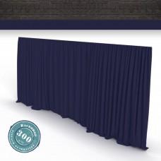 Vorhang dunkelblau Faltenband 300gr./qm