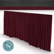 Vorhang bordeaux Faltenband 300gr./qm