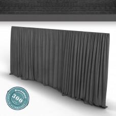Vorhang dkl.grau Faltenband 300gr./qm