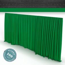 Vorhang Greenscreen Faltenband 300gr./qm