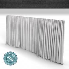 Vorhang hl.grau Faltenband 300gr./qm
