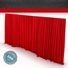 Vorhang rot Faltenband  300gr./qm