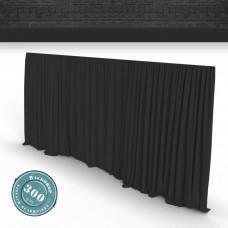 Vorhang schwarz Faltenband 300gr./qm