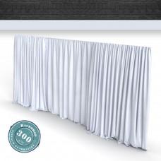 Vorhang weiss Faltenband 300gr./qm