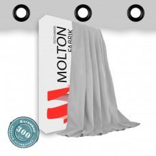 Vorhang hellgrau geöst - Gewicht: 300 g/m²