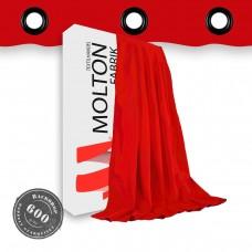 Vorhang in rot  geöst- 600gr./qm
