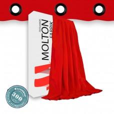 Vorhang in rot  geöst 300gr./qm