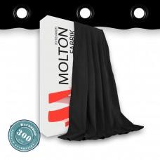 Vorhang schwarz geöst 300gr./qm