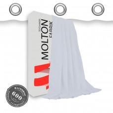 Vorhang in weiß geöst 600gr./qm