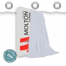 Vorhang in weiss geöst 300gr./qm