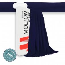 Vorhang dkl.blau/Holsaum Gewicht 300gr./qm
