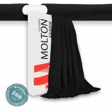 Vorhang schwarz Hohlsaum Gewicht 300gr./qm