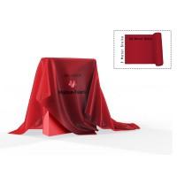 Dekomolton 10m Ballen rot, B1 300 cm breit