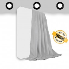 Vorhang Trevira CS hellgrau geöst - 640gr./qm