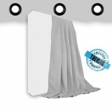 Vorhang Trevira CS hellgrau geöst - 320gr./qm