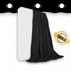 Vorhang Trevira CS schwarz geöst - 640gr./qm