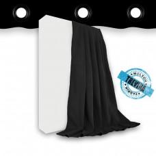 Vorhang Trevira CS schwarz geöst - 320gr./qm